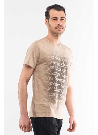 Slazenger Slazenger KARAT Erkek T-Shirt  Kahve